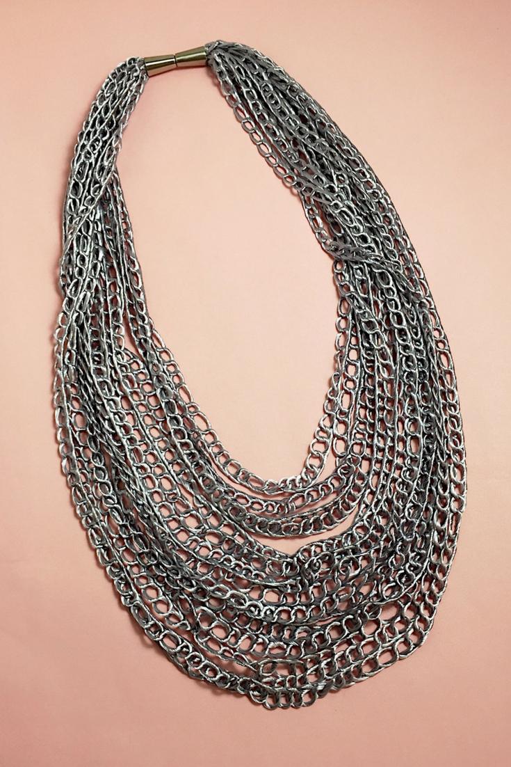 Mariposa Skies-Lanaria Vegan Silk Necklace